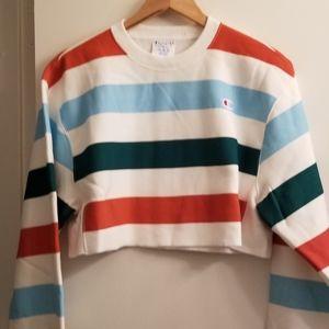 Champion XS Cropped Reverse Weave Crew Sweatshirt